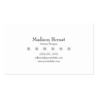 Marie - preto cartões de visita