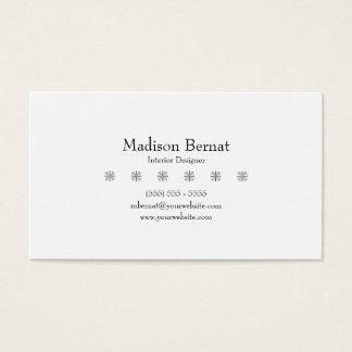 Marie - preto cartão de visitas