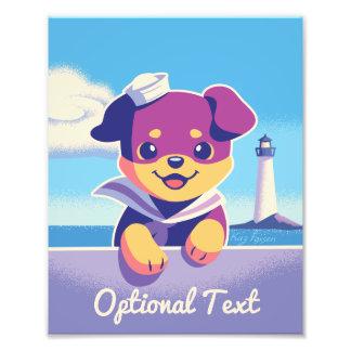 Marinheiro do cão de mar do filhote de cachorro de foto