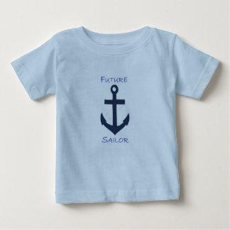 Marinheiro do marinho do T do bebê Tshirts