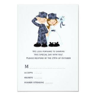 Marinheiro e noiva que Wedding cartões de RSVP Convite 8.89 X 12.7cm