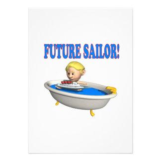 Marinheiro futuro convites personalizado
