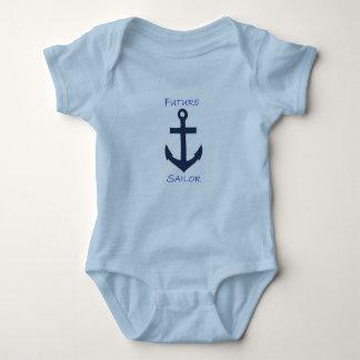 Marinheiro infantil do marinho do Creeper T-shirts