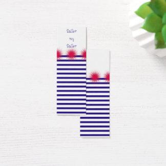 marinheiro meu marinheiro cartão de visitas mini