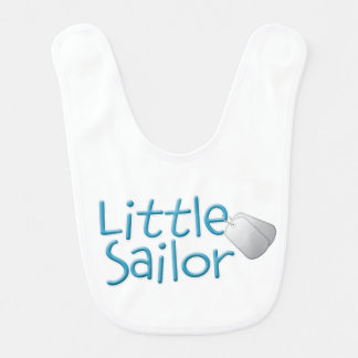 Marinheiro pequeno babador infantil