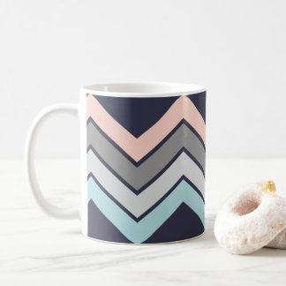 Marinho à moda da caneca de café com Chevron