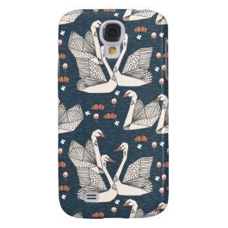 Marinho azul escuro de Geo da lagoa do lírio da Capa Samsung Galaxy S4