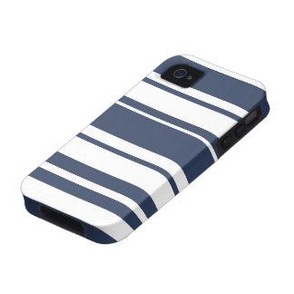 Marinho branco e náutico do teste padrão corajoso  capas para iPhone 4/4S