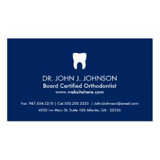 Marinho contínuo profissional da odontologia cartão de visita