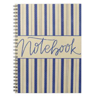 Marinho/design de creme do caderno