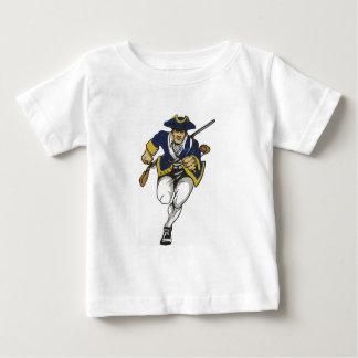 Marinho do patriota camiseta para bebê