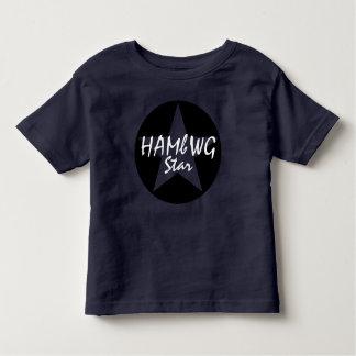 Marinho do t-shirt do jérsei da multa da criança camiseta infantil