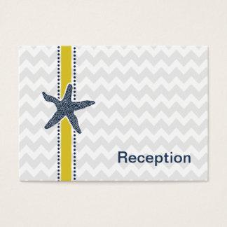 Marinho e artigos de papelaria amarelos do cartão de visitas