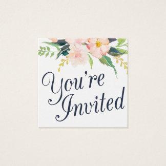 Marinho e cartão floral da placa conhecida do