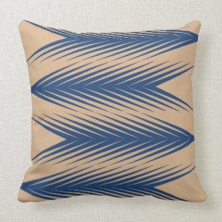 Marinho e travesseiro decorativo geométrico bege almofada