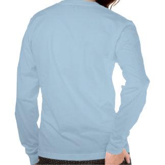 Marinho para a camiseta longa das mães