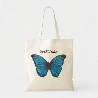 Mariposa, sacola azul da borboleta bolsas para compras