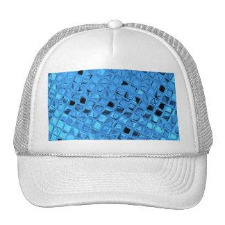Mariquinhas azuis femininos metálicas brilhantes d bone