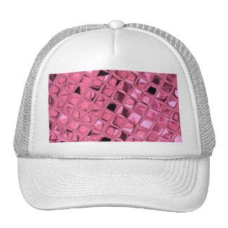 Mariquinhas cor-de-rosa femininos metálicas brilha bone