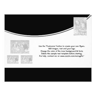 Marketing relativo à promoção branco do preto do m modelos de panfleto