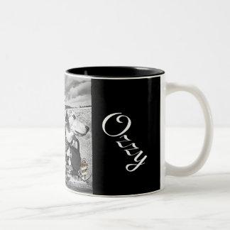Marky e caneca de café ozzy