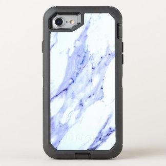 Mármore azul e branco capa para iPhone 8/7 OtterBox defender