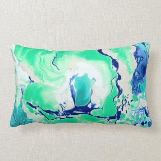 Mármore branco e azul verde almofada lombar