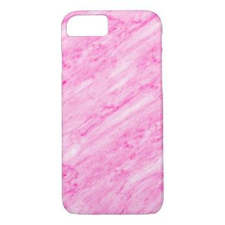 Mármore cor-de-rosa - feminino bonito capa iPhone 7