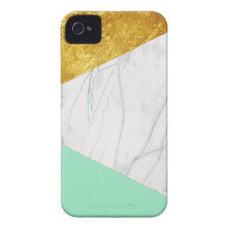 Mármore da cerceta do ouro branco capa para iPhone