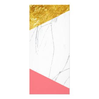 Mármore dos salmões do ouro branco 10.16 x 22.86cm panfleto