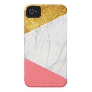 Mármore dos salmões do ouro branco capinha iPhone 4