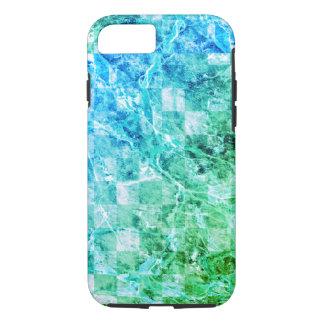 Mármore moderno brilhante do verde azul do mar capa iPhone 7