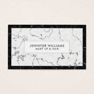 Mármore preto e branco na moda cartão de visitas