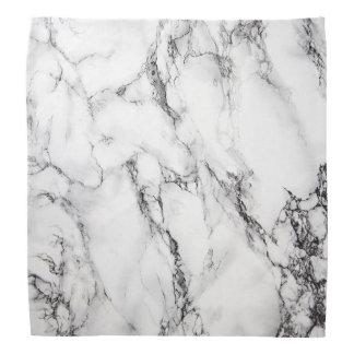 mármore preto e branco pano para cabeça