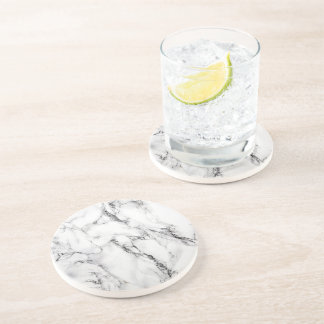 mármore preto e branco porta copos de arenito