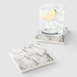mármore preto e branco porta copos de pedra