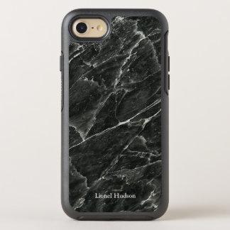 Mármore preto personalizado capa para iPhone 7 OtterBox symmetry