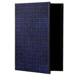 MÁRMORE WOVEN1 PRETO & COURO AZUL (R) CAPA PARA iPad AIR 2