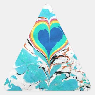 Marmorear turco da água do coração adesivo triangular