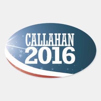 Marque Callahan 2016 Adesivo Oval