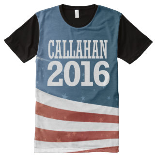 Marque Callahan 2016 Camisetas Com Impressão Frontal Completa