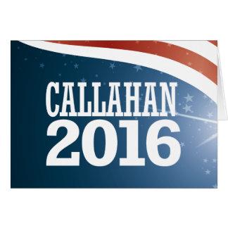 Marque Callahan 2016 Cartão De Nota