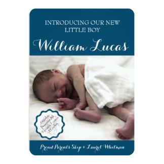 Marque o anúncio do nascimento do bebé convite 12.7 x 17.78cm