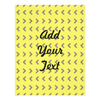 Marrom amarelo do teste padrão da seta panfletos