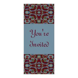 marrom azul convite 10.16 x 23.49cm