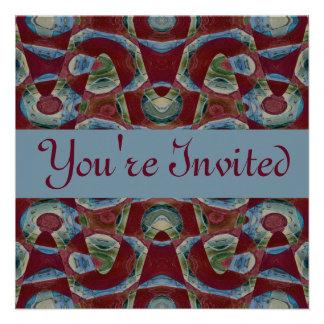 marrom azul convites personalizado
