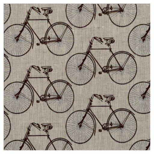 Marrom bonito do tecido do primavera da bicicleta