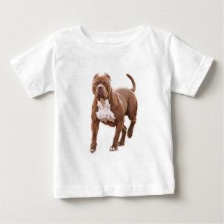 Marrom do pitbull camiseta para bebê