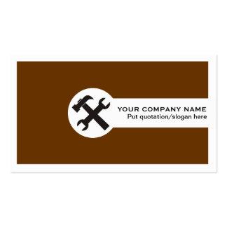 Marrom dos cartões de indústria da construção cartão de visita