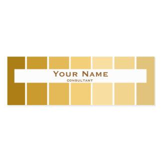 marrom fino moderno e ouro da cor cartão de visita skinny